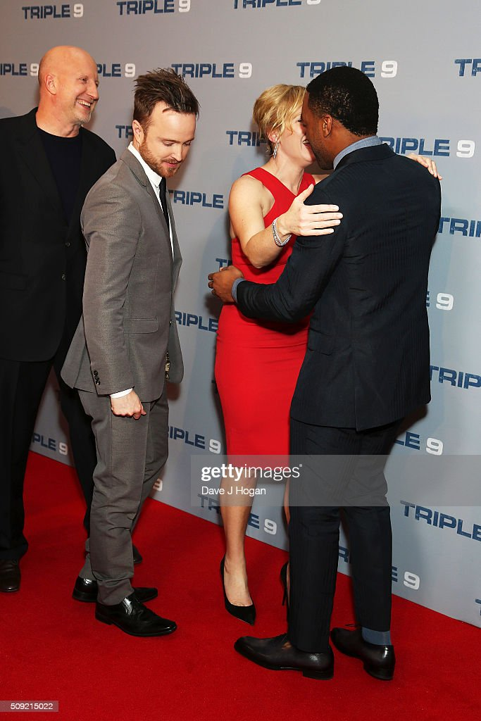 Director <a gi-track='captionPersonalityLinkClicked' href=/galleries/search?phrase=John+Hillcoat&family=editorial&specificpeople=665204 ng-click='$event.stopPropagation()'>John Hillcoat</a>, Aaron Paul, <a gi-track='captionPersonalityLinkClicked' href=/galleries/search?phrase=Kate+Winslet&family=editorial&specificpeople=201923 ng-click='$event.stopPropagation()'>Kate Winslet</a> and <a gi-track='captionPersonalityLinkClicked' href=/galleries/search?phrase=Chiwetel+Ejiofor&family=editorial&specificpeople=213998 ng-click='$event.stopPropagation()'>Chiwetel Ejiofor</a> attend a special screening of 'Triple 9' at Ham Yard Hotel on February 9, 2016 in London, England.