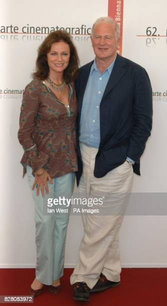Director John Irvine and actress Jacqueline Bisset attend a photocall for their new film The Fine Art Of Love Mine Ha Ha at the 62nd Venice Film...