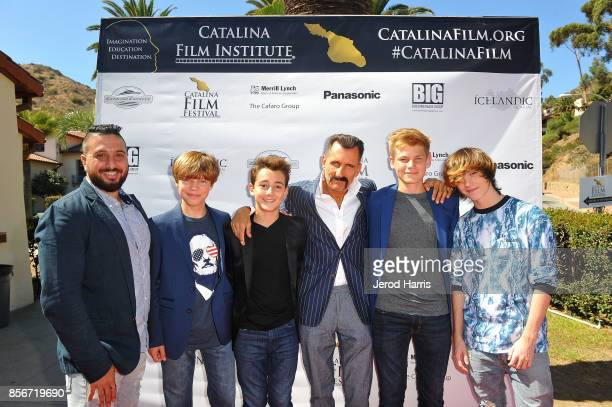 Director John J Budion Tanner Flood Colin Critchley Wass Stevens Harrison Wittmeyer and Keidrich Sellati attend the 2017 Catalina Film Festival on...
