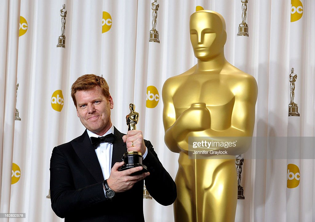 Director John Kahrs, winner of the Best Animated Short Film award for 'Paperman,' in the press room during the 85th Annual Academy Awards at Loews Hollywood Hotel on February 24, 2013 in Hollywood, California.