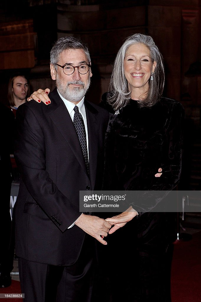 Director <a gi-track='captionPersonalityLinkClicked' href=/galleries/search?phrase=John+Landis&family=editorial&specificpeople=241258 ng-click='$event.stopPropagation()'>John Landis</a> and <a gi-track='captionPersonalityLinkClicked' href=/galleries/search?phrase=Deborah+Nadoolman+Landis&family=editorial&specificpeople=221329 ng-click='$event.stopPropagation()'>Deborah Nadoolman Landis</a> arrive at the launch dinner for the new Hollywood Costume exhibition at the V&A Museum on October 16, 2012 in London, England. The exhibition will open from October 20th at The V&A.