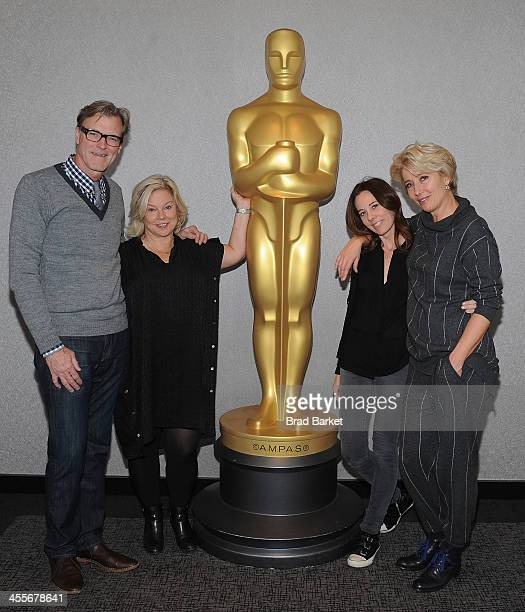 Director John Lee Hancock Alison Owen Kelly Marcel and Emma Thompson attend The Academy Of Motion Picture Arts And Sciences Hosts An Official Academy...