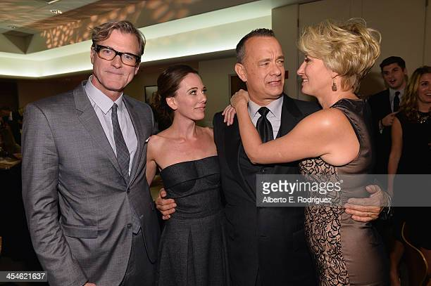 Director John Lee Hancock writer Kelly Marcel actors Tom Hanks and Emma Thompson attend the US Premiere Of Disney's 'Saving Mr Banks' after party at...