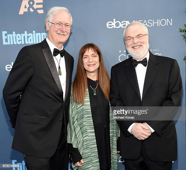 Director John Musker producer Osnat Shurer and director Ron Clements attend The 22nd Annual Critics' Choice Awards at Barker Hangar on December 11...