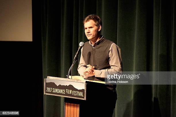 Director John Nein speaks on stage during 'The Nile Hilton Incident' Premiere on day 3 of the 2017 Sundance Film Festival at Prospector Square on...