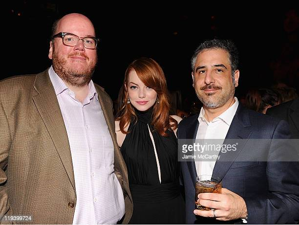 Director John Requa Emma Stone and director Glenn Ficarra attend the 'Crazy Stupid Love' World Premiere after party at TAO on July 19 2011 in New...