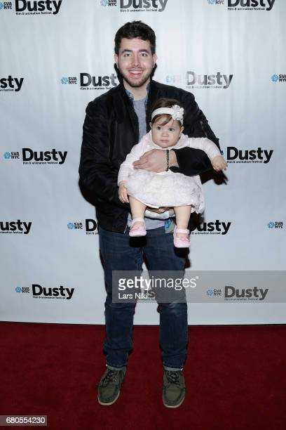 Director John Tashiro and Love Lolli attend the 28th Dusty Film Animation Festival at SVA Theater on May 8 2017 in New York City