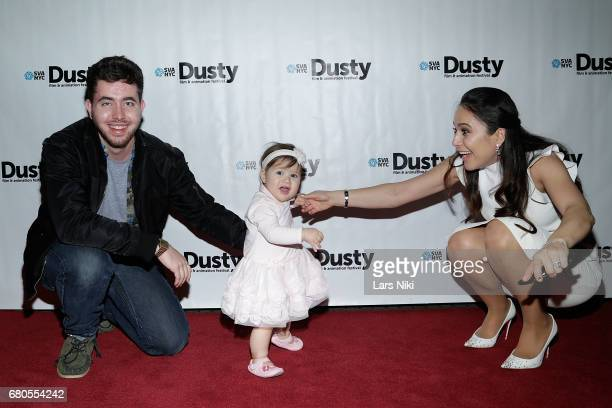 Director John Tashiro Love Lolli and Terza Lolli attend the 28th Dusty Film Animation Festival at SVA Theater on May 8 2017 in New York City