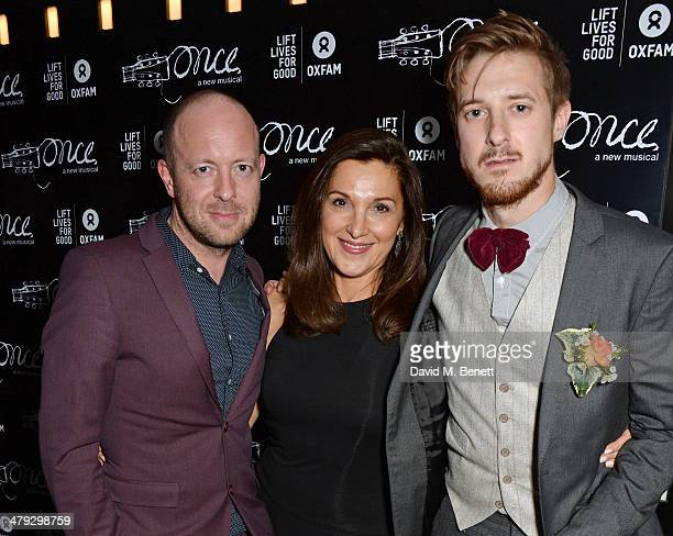 Director John Tiffany Barbara Broccoli and Arthur Darvill attend an after party celebrating the 'Once The Musical' Oxfam Gala at Paramount on March...