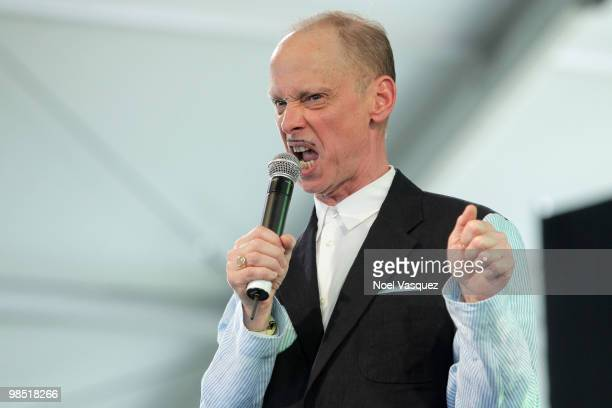 Director John Waters speaks onstage during day two of the Coachella Valley Music Arts Festival 2010 held at the Empire Polo Club on April 17 2010 in...