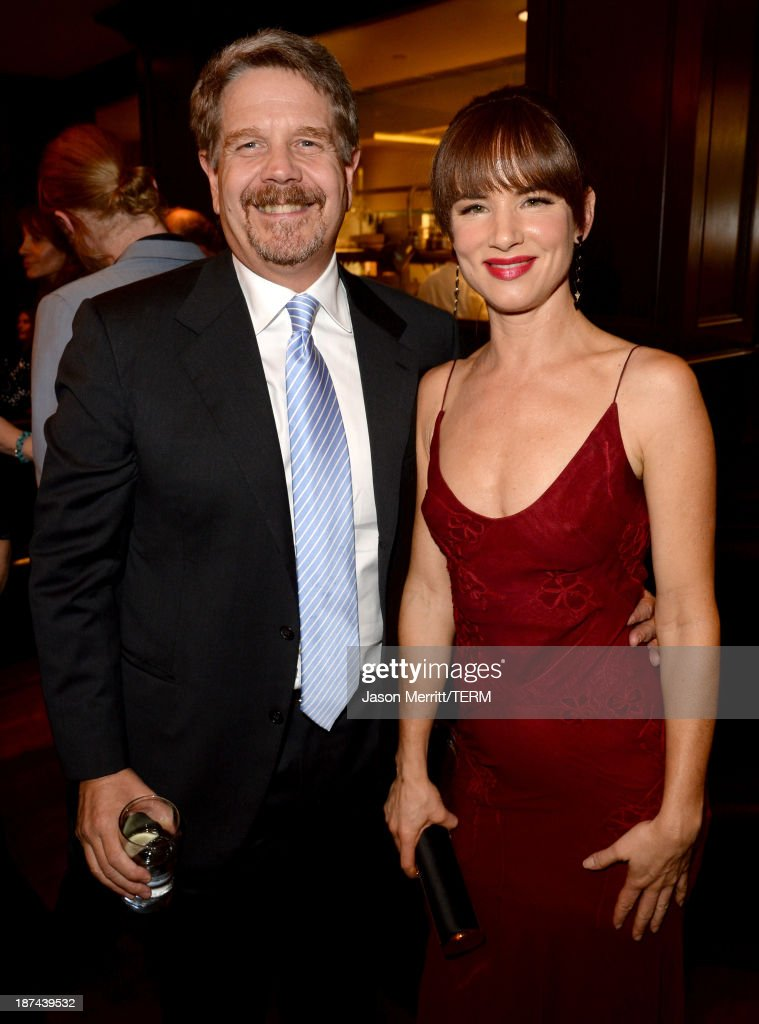 Director John Wells (L) and actress <a gi-track='captionPersonalityLinkClicked' href=/galleries/search?phrase=Juliette+Lewis&family=editorial&specificpeople=202873 ng-click='$event.stopPropagation()'>Juliette Lewis</a> attend The Weinstein Company Presents 'August: Osage County' Gala Screening Cocktail Reception during AFI FEST 2013 presented by Audi at TCL Chinese Theatre on November 8, 2013 in Hollywood, California.
