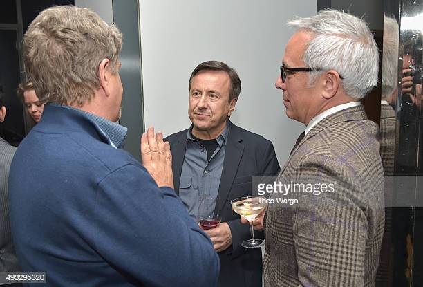Director John Wells chefs Daniel Boulud and Geoffrey Zakarian attend the Private Screening Of BURNT QA Panel And Reception With Bradley Cooper And...
