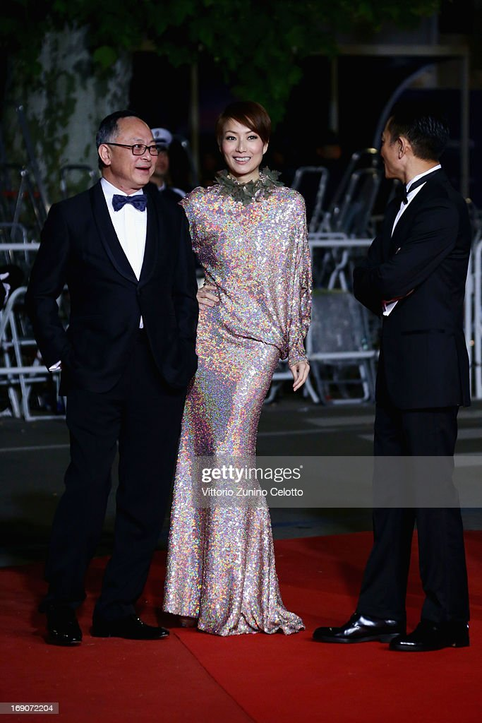 Director <a gi-track='captionPersonalityLinkClicked' href=/galleries/search?phrase=Johnnie+To&family=editorial&specificpeople=2959728 ng-click='$event.stopPropagation()'>Johnnie To</a> and actors <a gi-track='captionPersonalityLinkClicked' href=/galleries/search?phrase=Sammi+Cheng&family=editorial&specificpeople=2233867 ng-click='$event.stopPropagation()'>Sammi Cheng</a> and <a gi-track='captionPersonalityLinkClicked' href=/galleries/search?phrase=Andy+Lau&family=editorial&specificpeople=171171 ng-click='$event.stopPropagation()'>Andy Lau</a> attend the 'Blind Detective' Premiere during the 66th Annual Cannes Film Festival at the Palais des Festivals on May 19, 2013 in Cannes, France.
