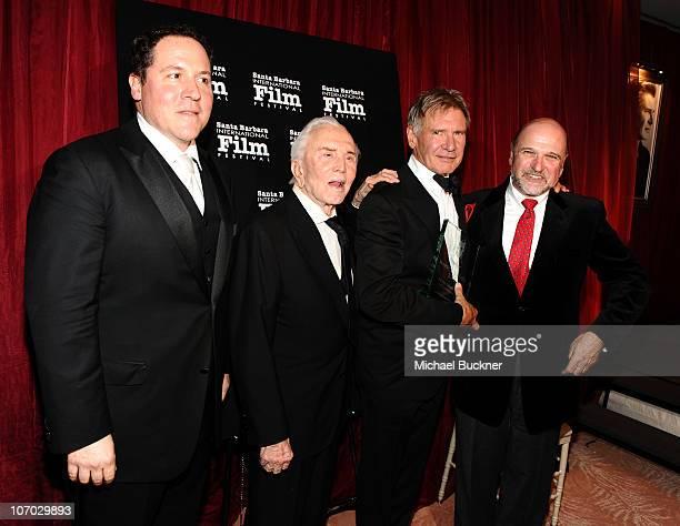 Director Jon Favreau actor Kirk Douglas actor Harrison Ford and director Andy Davis attend the Santa Barbara International Film Festival's 5th Annual...