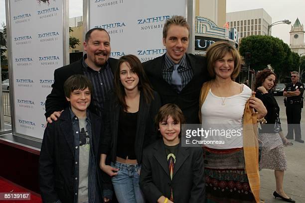 Director Jon Favreau Josh Hutcherson Kristen Stewart Dax Shepard Jonah Bobo and Sony's Amy Pascal