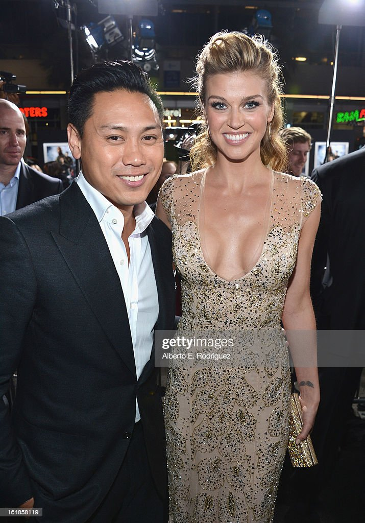 Director Jon M. Chu and actress Adrianne Palicki attend the premiere of Paramount Pictures' 'G.I. Joe: Retaliation' at TCL Chinese Theatre on March 28, 2013 in Hollywood, California.