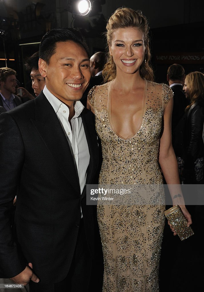 Director Jon M. Chu and actress Adrianne Palicki attend the premiere of Paramount Pictures' 'G.I. Joe:Retaliation' at TCL Chinese Theatre on March 28, 2013 in Hollywood, California.