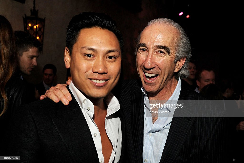 Director Jon M. Chu (L) and Chairman and CEO of MGM <a gi-track='captionPersonalityLinkClicked' href=/galleries/search?phrase=Gary+Barber&family=editorial&specificpeople=683141 ng-click='$event.stopPropagation()'>Gary Barber</a> pose at the after party for the premiere of Paramount Pictures' 'G.I. Joe: Retaliation' at the Roosevelt Hotel on March 28, 2013 in Los Angeles, California.