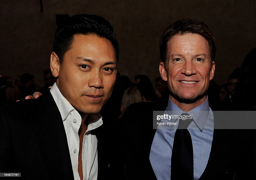 Director Jon M. Chu (L) and producer Brian Goldner pose at the after party for the premiere of Paramount Pictures' 'G.I. Joe: Retaliation' at the Roosevelt Hotel on March 28, 2013 in Los Angeles, California.