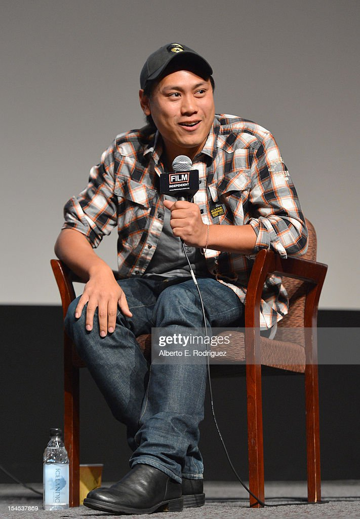 Director Jon M. Chu speaks onstage during Film Independent Film Forum at Directors Guild of America on October 21, 2012 in Los Angeles, California.
