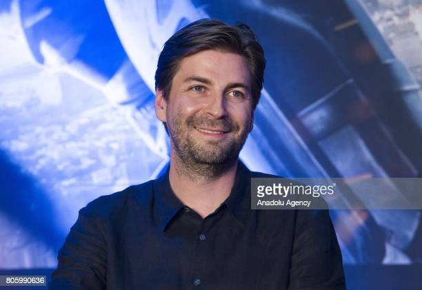 Director Jon Watts attends a press conference to promote new movie 'SpiderMan Homecoming' at Corad Seoul Hotel in Seoul South Korea on July 03 2017