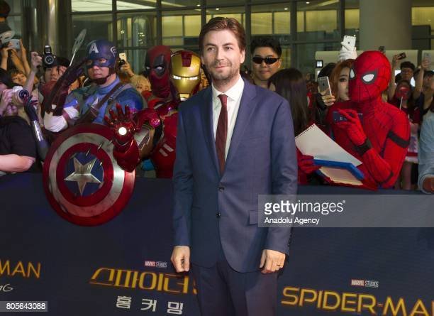Director Jon Watts attends the Red Carpet Event for 'SpiderMan Homecoming' at Times square CGV theater in Seoul South Korea on July 02 2017