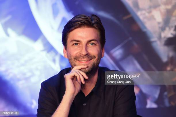 Director Jon Watts attends the 'SpiderMan Homecoming' press conference at Conrad Seoul Hotel on July 3 2017 in Seoul South Korea