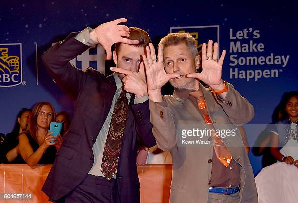 Director Jonathan Demme and musician/actor Justin Timberlake attend the 'Justin Timberlake The Tennessee Kids' premiere during the 2016 Toronto...