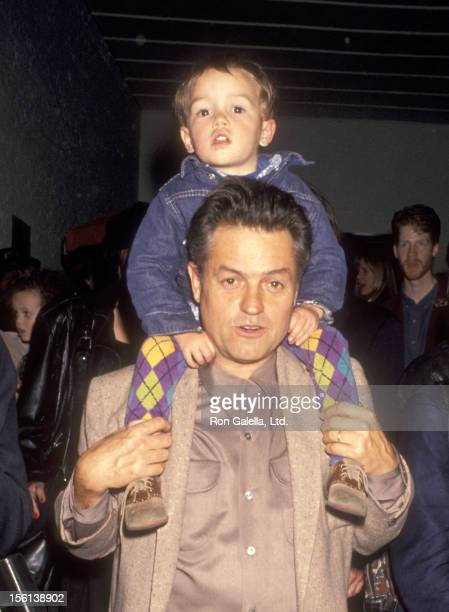 Director Jonathan Demme and son Brooklyn Demme attend the Batoto Yetu's Benefit Performance of 'Rites of Spring' on April 22 1993 at Industria...