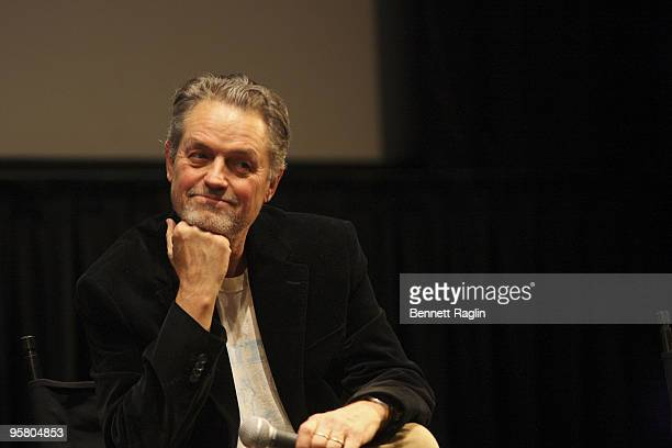 Director Jonathan Demme attends an evening with Jonathan Demme and Neil Young trunk show at the Walter Reade Theater on January 15 2010 in New York...
