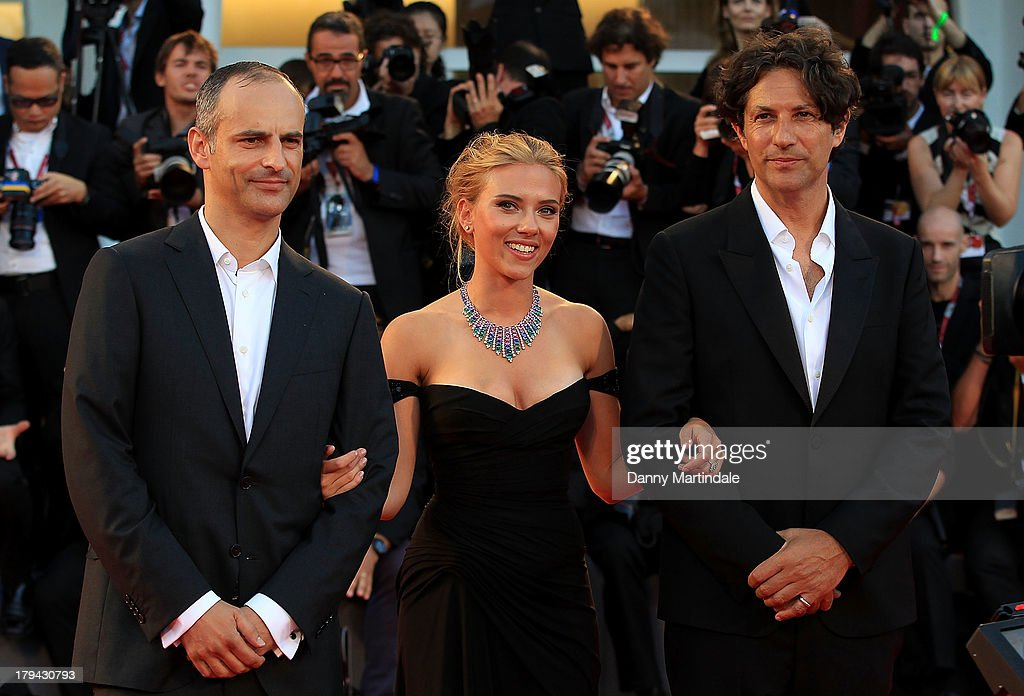 Director Jonathan Glazer, actress Scarlett Johansson and producer James Wilson attends 'Under The Skin' Premiere during the 70th Venice International Film Festival at Sala Grande on September 3, 2013 in Venice, Italy.