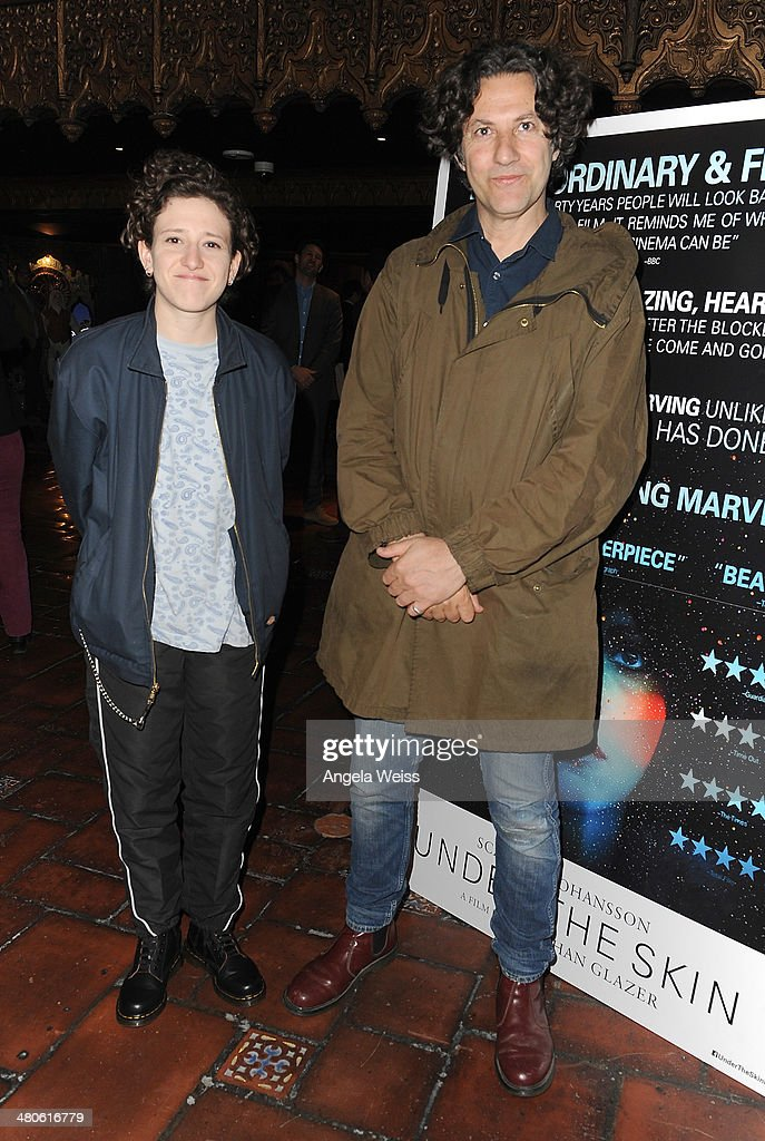Director Jonathan Glazer (R) and composer Mica Levi attend the premiere of A24's 'Under The Skin' at The Theatre At Ace Hotel on March 25, 2014 in Los Angeles, California.
