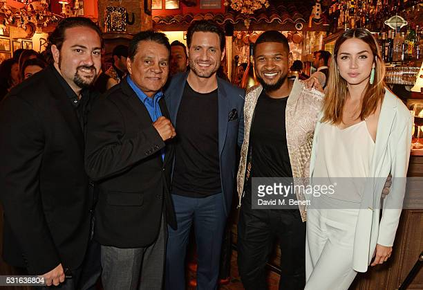 Director Jonathan Jakubowicz Roberto Duran Edgar Ramirez Usher Raymond and Ana de Armas attend a starstudded dinner hosted by DEAN DELUCA Harvey...