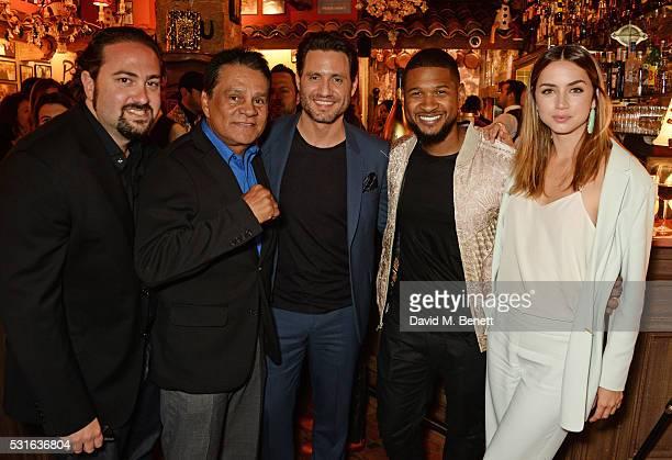 Director Jonathan Jakubowicz Roberto Duran Edgar Ramirez Usher Raymond and Ana de Armas attend a starstudded dinner hosted by DEAN DELUCA Harvey...