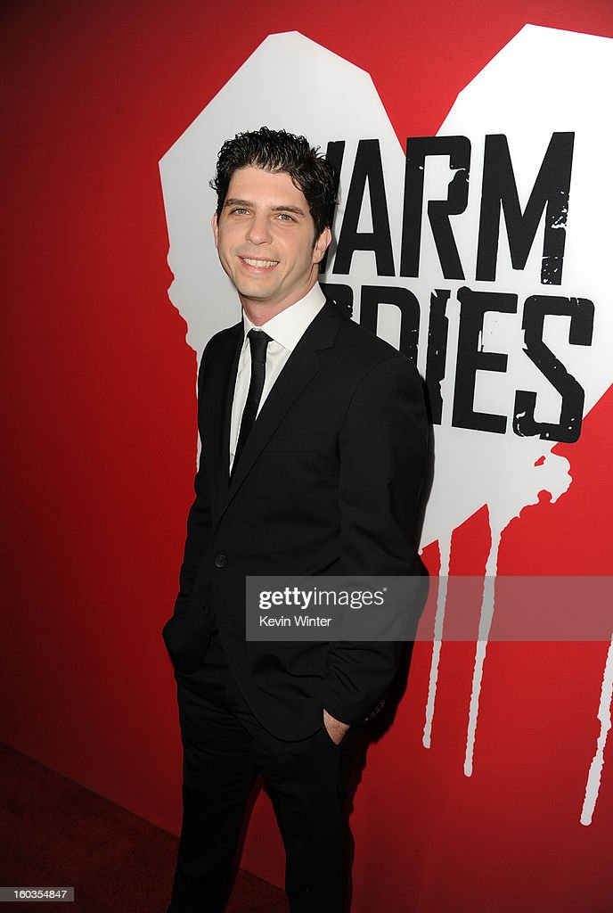 Director Jonathan Levine arrives for the Los Angeles premiere of Summit Entertainment's 'Warm Bodies' at ArcLight Cinemas Cinerama Dome on January 29, 2013 in Hollywood, California.
