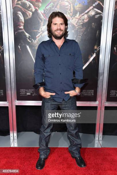 Director Jonathan Liebesman attends the 'Teenage Mutant Ninja Turtles' New York premiere at AMC Lincoln Square Theater on August 6 2014 in New York...