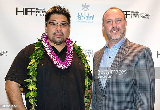 Director Jonathan Lim and Robert Lambeth arrive at the 2015 Hawaii International Film Festival for the world premiere of 'Pali Road' on November 16...
