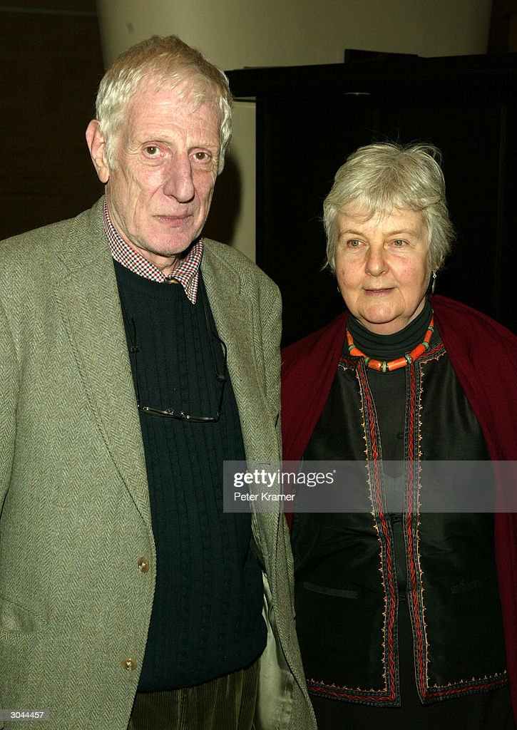 Director Jonathan Miller and wife attend the after party for Lincoln Centers opening night of 'King Lear' on March 4 2004 in New York City