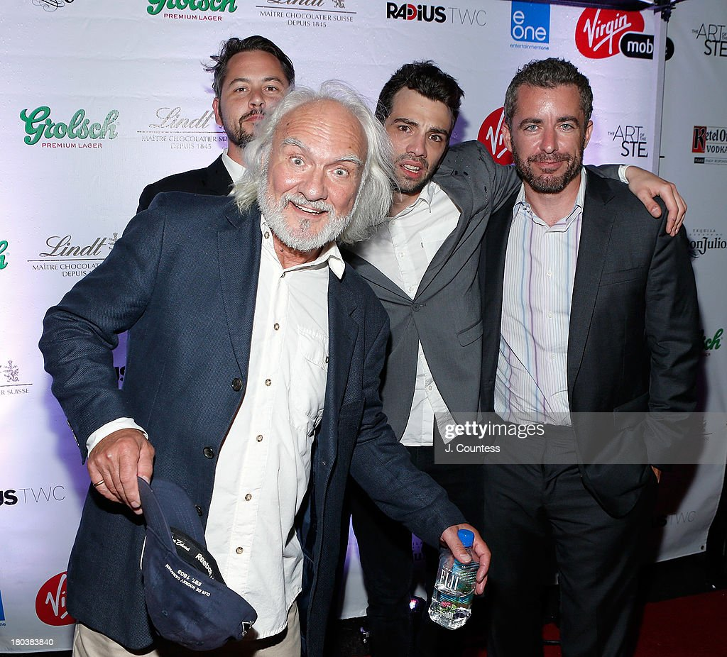 Director Jonathan Sobol and actors Kenneth Welsh, <a gi-track='captionPersonalityLinkClicked' href=/galleries/search?phrase=Jay+Baruchel&family=editorial&specificpeople=662285 ng-click='$event.stopPropagation()'>Jay Baruchel</a> and Jason Jones attend the Virgin Mobile Arts & Cinema Centre - 'The Art Of The Steal' After Party at F-Stop on September 11, 2013 in Toronto, Canada.