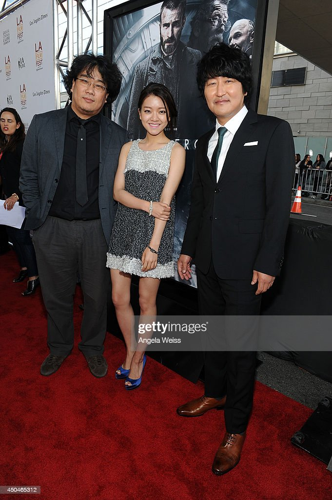 Director Joon-ho Bong, actors Ah-sung Ko and Kang-ho Song attend the opening night premiere of 'Snowpiercer' during the 2014 Los Angeles Film Festival at Regal Cinemas L.A. Live on June 11, 2014 in Los Angeles, California.