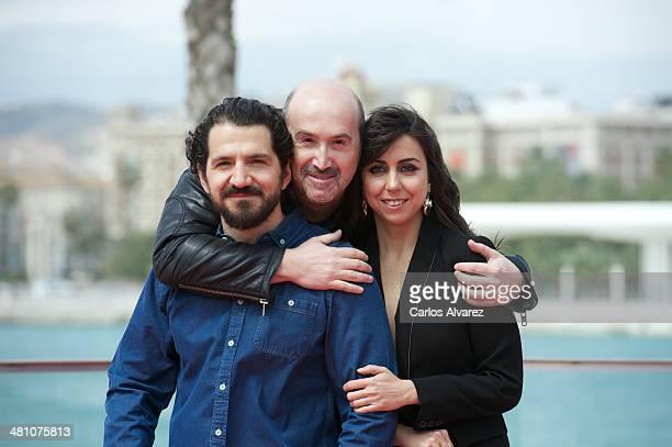 Director Jorge Torregrosa actor Javier Camara and actress Carmen Ruiz attend the 'La Vida Inesperada' photocall on March 28 2014 in Malaga Spain