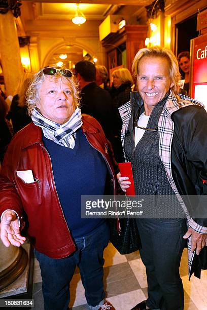 Director Josee Dayan and journalist Christine Ockrent attend 'Nina' Premiere at Theatre Edouard VII on September 16 2013 in Paris France