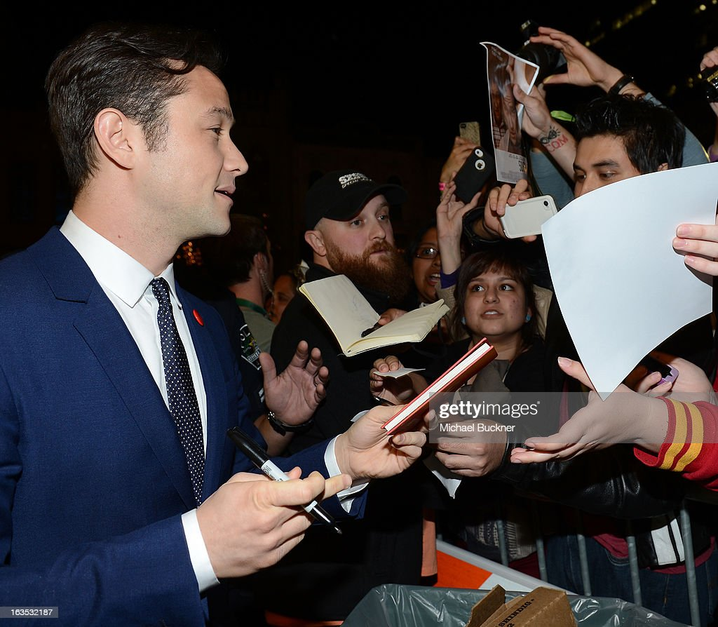 Director Joseph Gordon-Levitt \arrives to the screening of 'Don Jon's Addiction' during the 2013 SXSW Music, Film + Interactive Festival at the Paramount Theatre on March 11, 2013 in Austin, Texas.