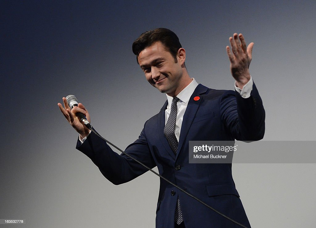 Director Joseph Gordon-Levitt speaks to introduce the film 'Don Jon's Addiction' during the 2013 SXSW Music, Film + Interactive Festival at the Paramount Theatre on March 11, 2013 in Austin, Texas.