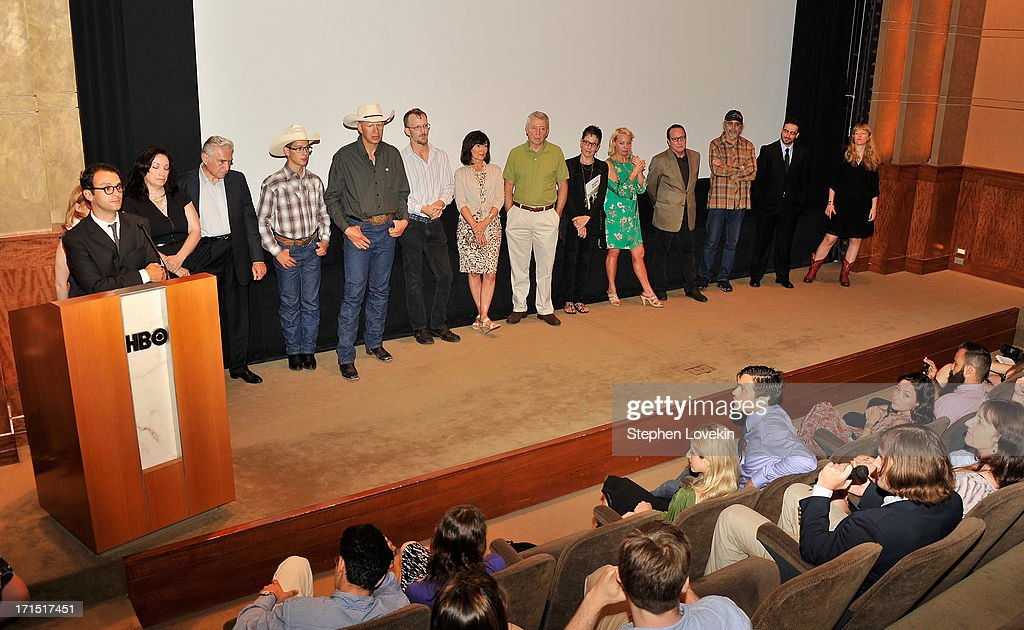 Director <a gi-track='captionPersonalityLinkClicked' href=/galleries/search?phrase=Josh+Fox+-+Director&family=editorial&specificpeople=5401630 ng-click='$event.stopPropagation()'>Josh Fox</a> addresses the audience at The HBO Special Screening Of 'Gasland Part II' at HBO Theater on June 25, 2013 in New York City.
