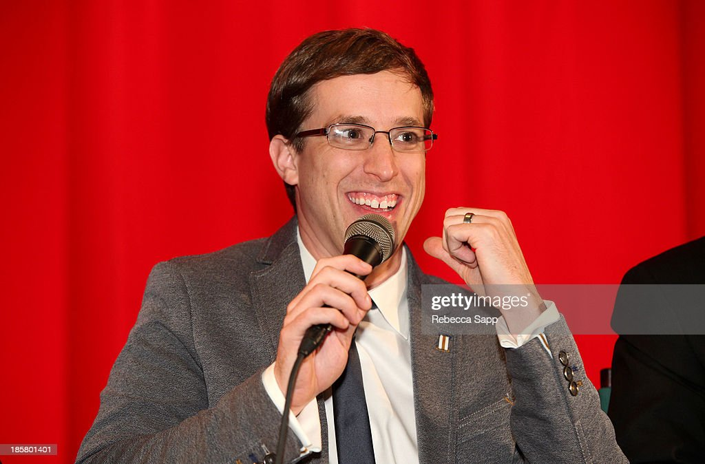 Director Josh Greenbaum during a Q&A session at Hulu Presents The LA Premiere Of 'Behind the Mask' at the Vista Theatre on October 24, 2013 in Los Angeles, California.