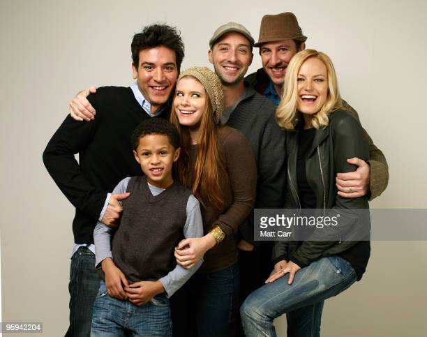 Director Josh Radnor and actors Michael Algieri Kate Mara Tony Hale Pablo Schreiber and Malin Akerman pose for portrait during the 2010 Sundance Film...