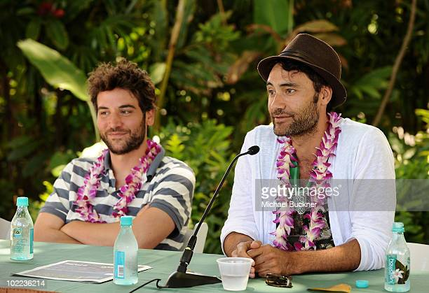 Director Josh Radnor and director Taika Waititi speak during the 'Love Love Love What's Going on' panel during the 2010 Maui Film Festival at the...