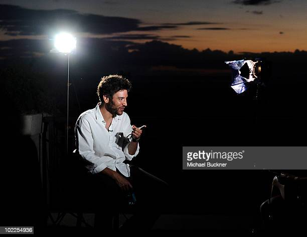 Director Josh Radnor speaks to reporters at the screening of 'Happythankyourmoreplease' during the 2010 Maui Film Festival at the Celestial Cinema on...