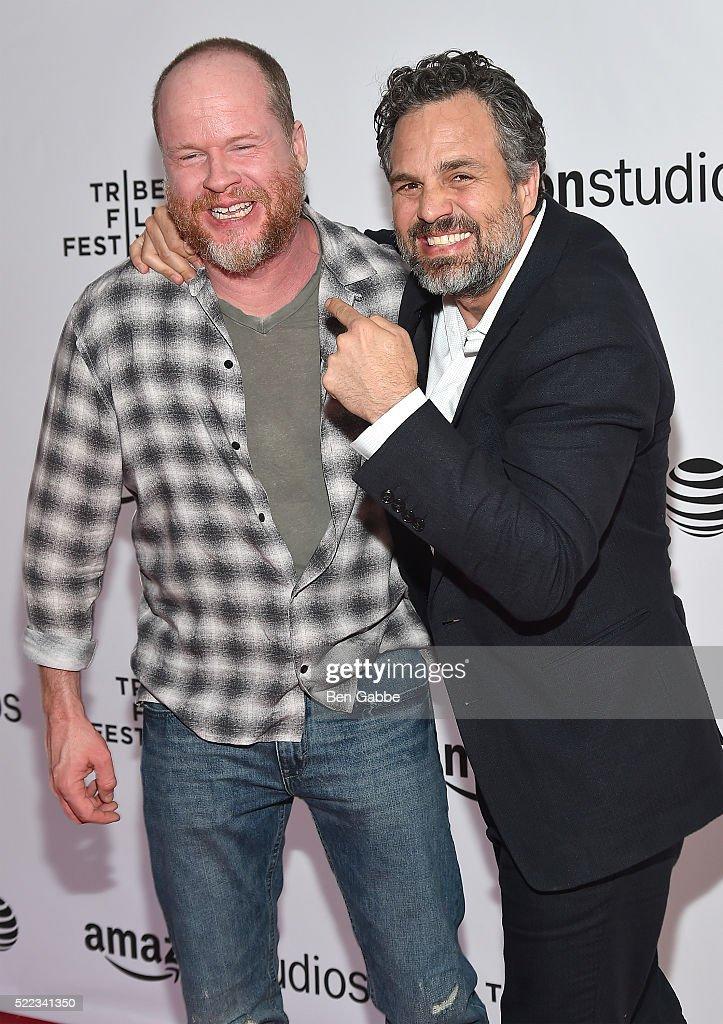 Director Joss Whedon and actor Mark Ruffalo attend the Tribeca Talks Directors Series Joss Whedon with Mark Ruffalo event during the 2016 Tribeca...